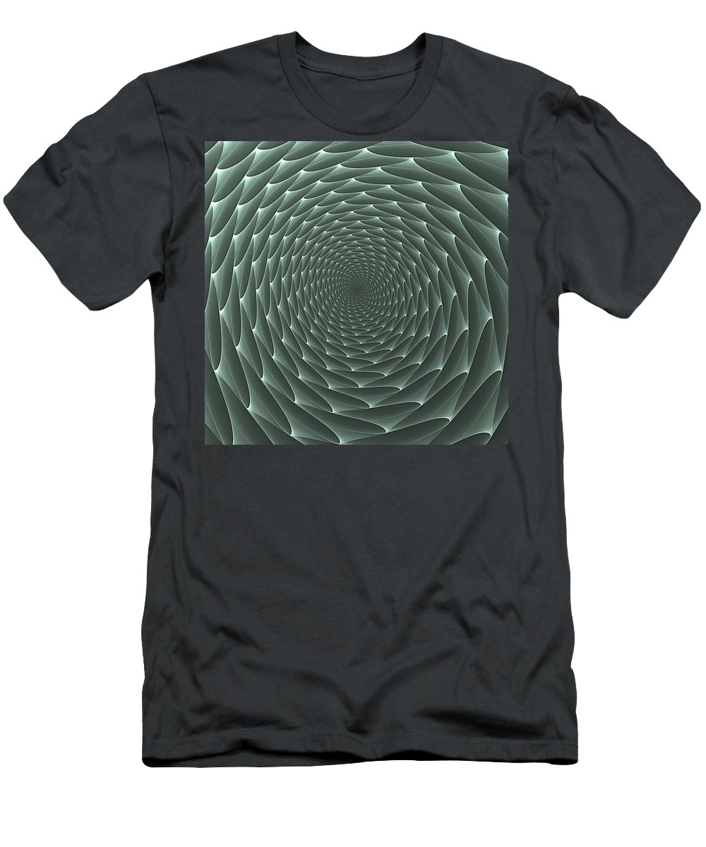 Soft Men's T-Shirt (Athletic Fit) featuring the digital art Velveteen Vortex Gray by Doug Morgan