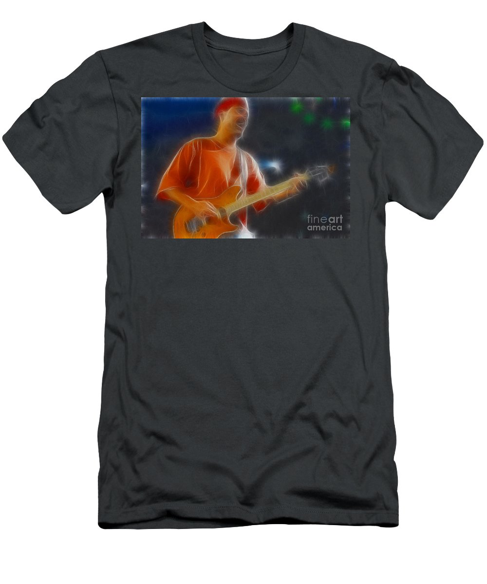 Music Men's T-Shirt (Athletic Fit) featuring the photograph Vh-eddie-balance-gc20-fractal by Gary Gingrich Galleries