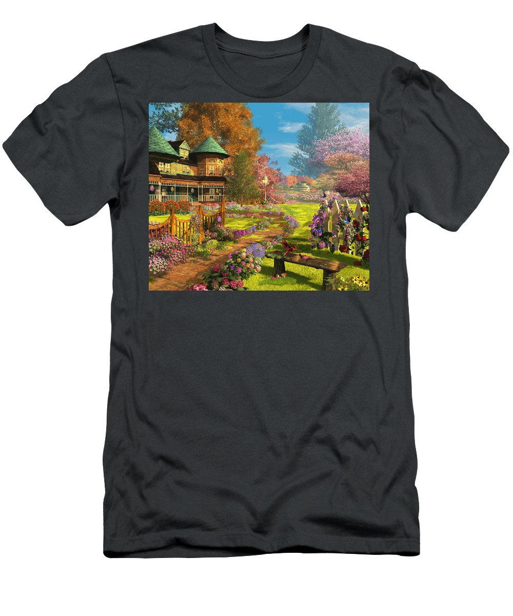 Art Licensing Men's T-Shirt (Athletic Fit) featuring the mixed media Victorian Dream by Caplyn Dor