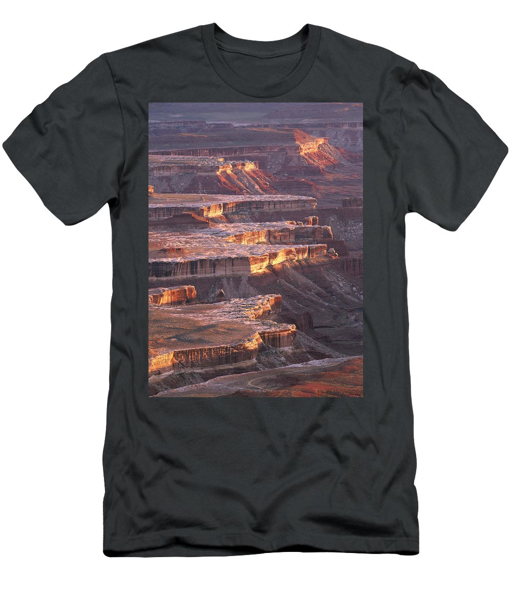 Feb0514 Men's T-Shirt (Athletic Fit) featuring the photograph View From Grandview Point Canyonlands by Tim Fitzharris