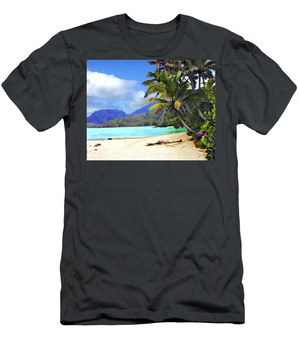 Hawaii Men's T-Shirt (Athletic Fit) featuring the photograph View From Waicocos by Kurt Van Wagner