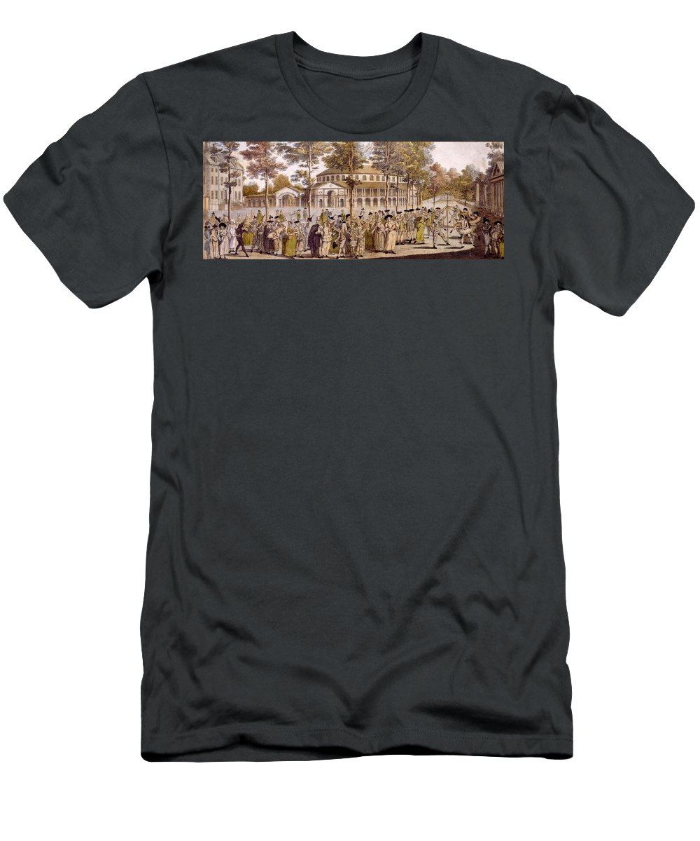 Jubilee T-Shirt featuring the drawing View Of The Jubilee Ball, Ranelagh by English School