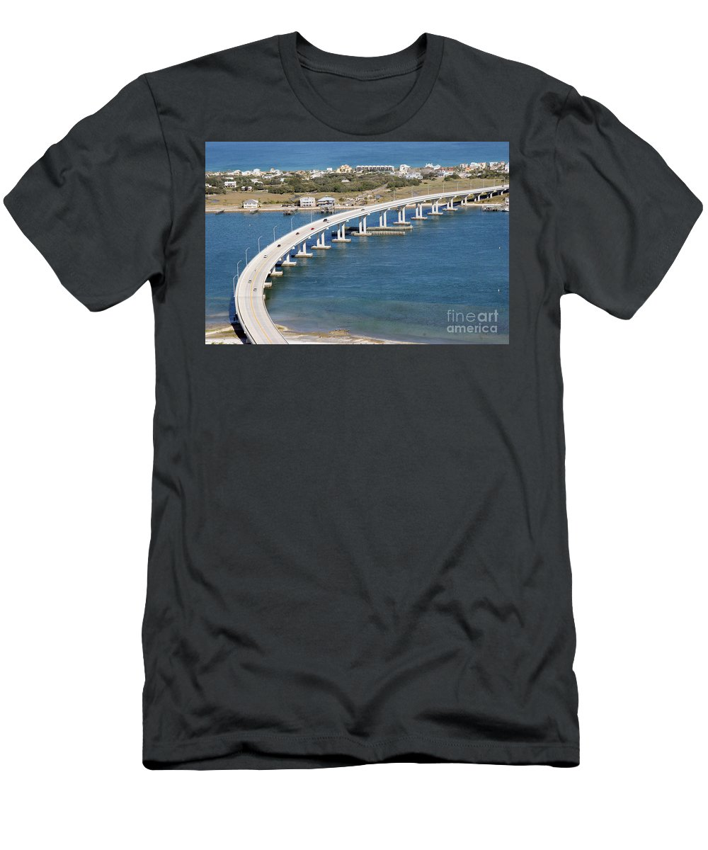 Florida Men's T-Shirt (Athletic Fit) featuring the photograph Vilano Bridge St Augustine Florida by Bill Cobb