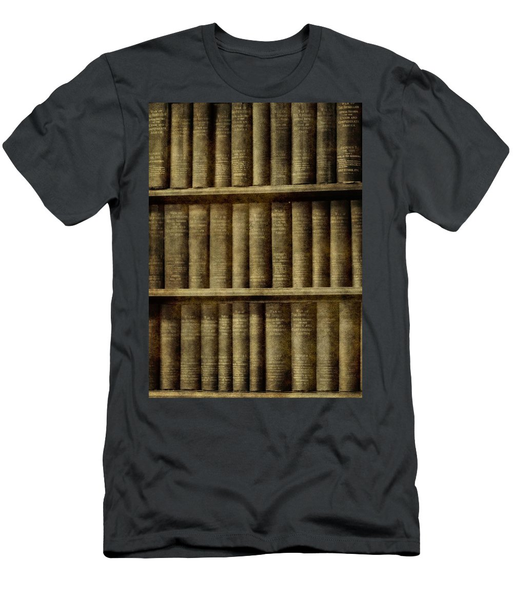 Vintage Books Men's T-Shirt (Athletic Fit) featuring the photograph Vintage Books by Dan Sproul