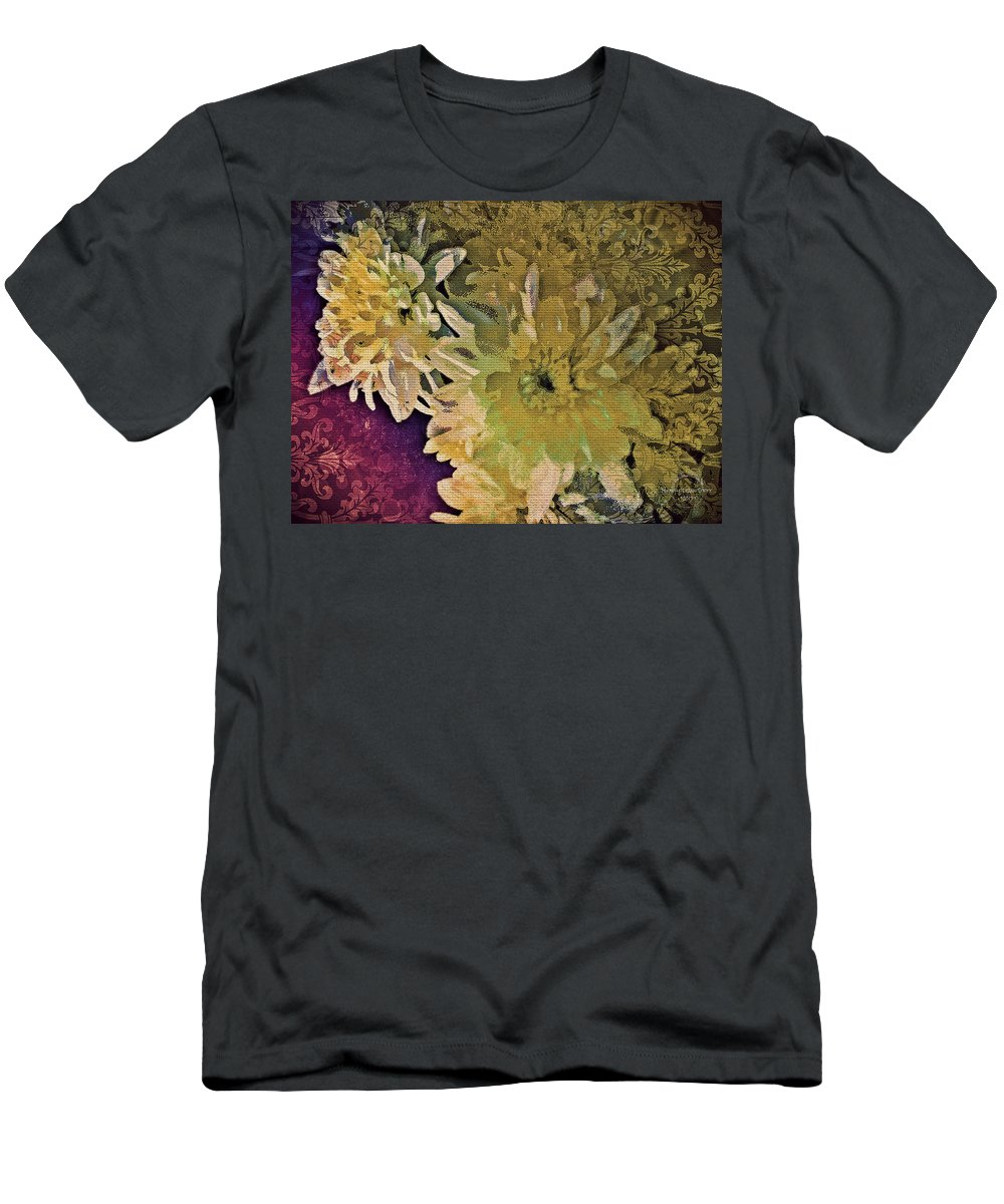 Flower Men's T-Shirt (Athletic Fit) featuring the digital art Vintage Flower Tapestry by Absinthe Art By Michelle LeAnn Scott