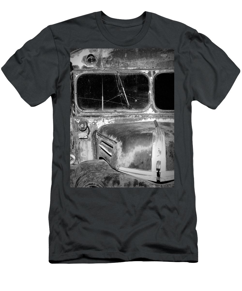 Art Men's T-Shirt (Athletic Fit) featuring the photograph Vintage Ford Bus In Minnesota by Randall Nyhof