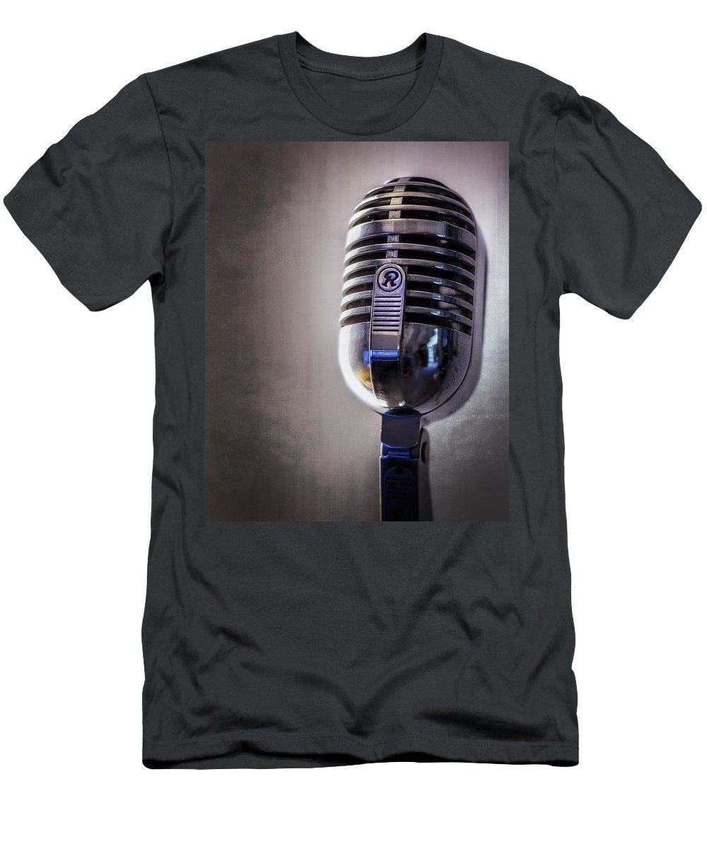 Mic T-Shirt featuring the photograph Vintage Microphone 2 by Scott Norris