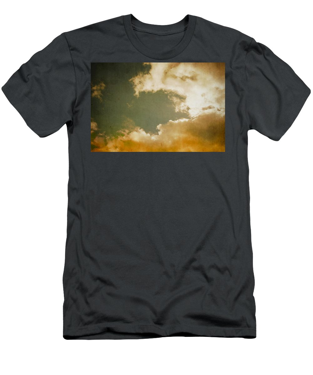 Retro Men's T-Shirt (Athletic Fit) featuring the digital art Vintage Sky by Steve Ball
