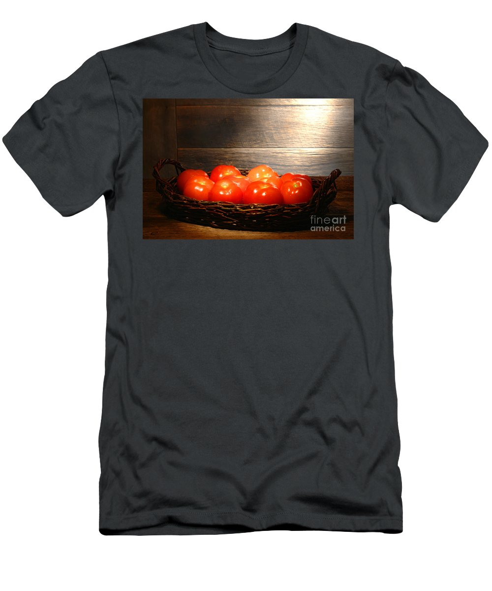 Tomatoes Men's T-Shirt (Athletic Fit) featuring the photograph Vintage Tomatoes by Olivier Le Queinec
