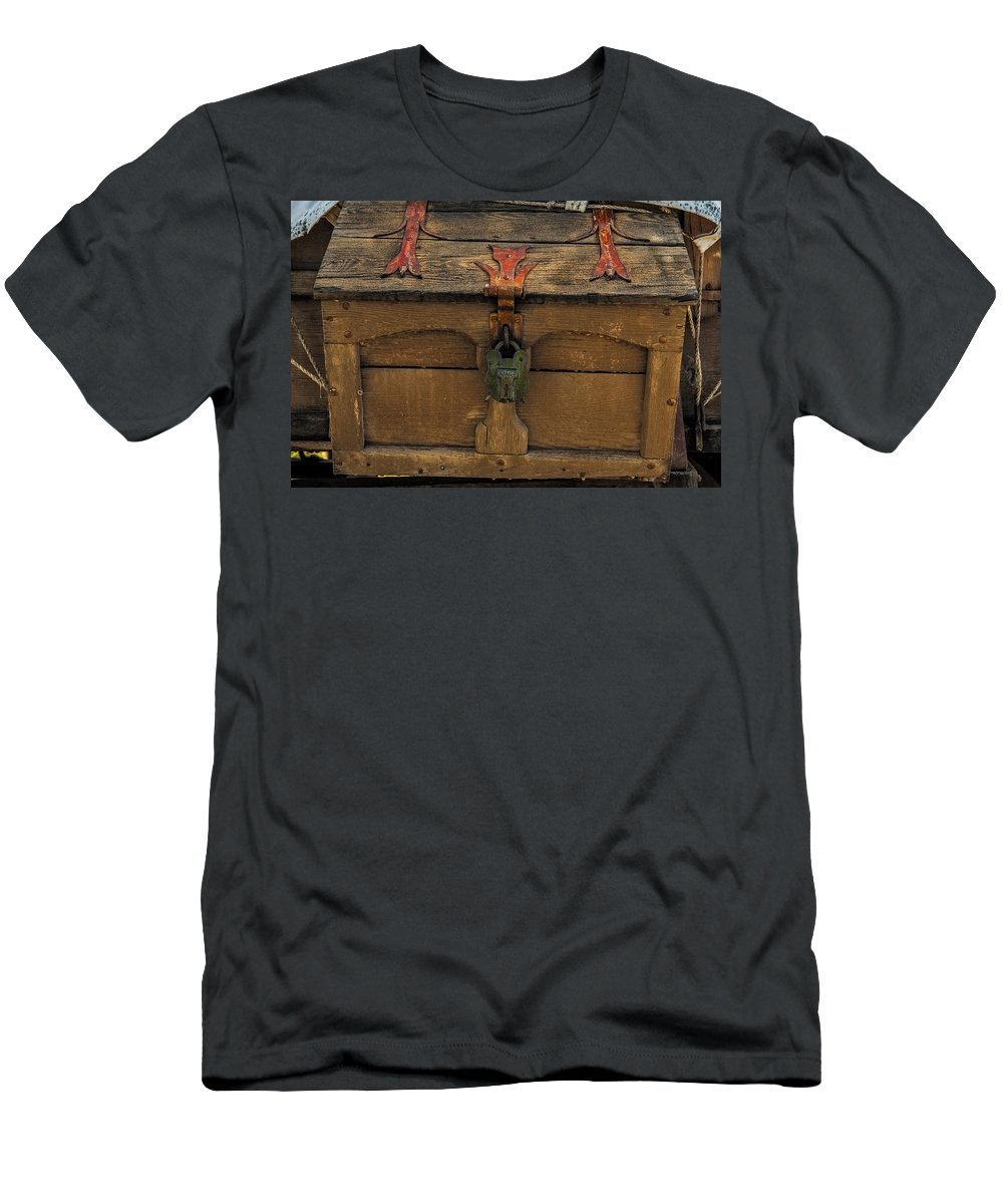 Copper Men's T-Shirt (Athletic Fit) featuring the photograph Vintge Strong Box by Paul Freidlund