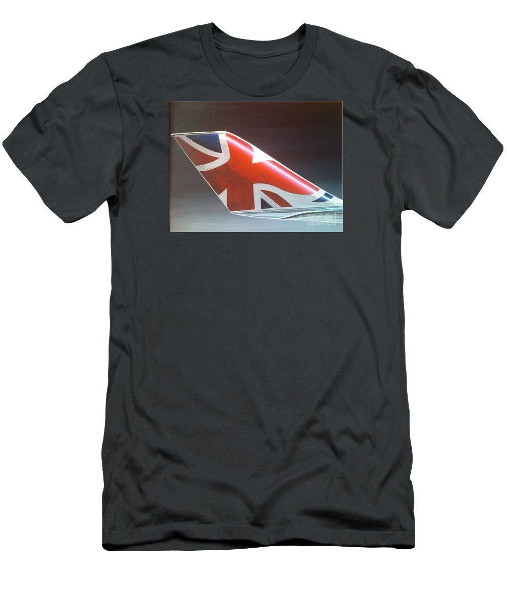 Virgin Men's T-Shirt (Athletic Fit) featuring the painting Virgin Atlantic Winglet by Richard John Holden RA