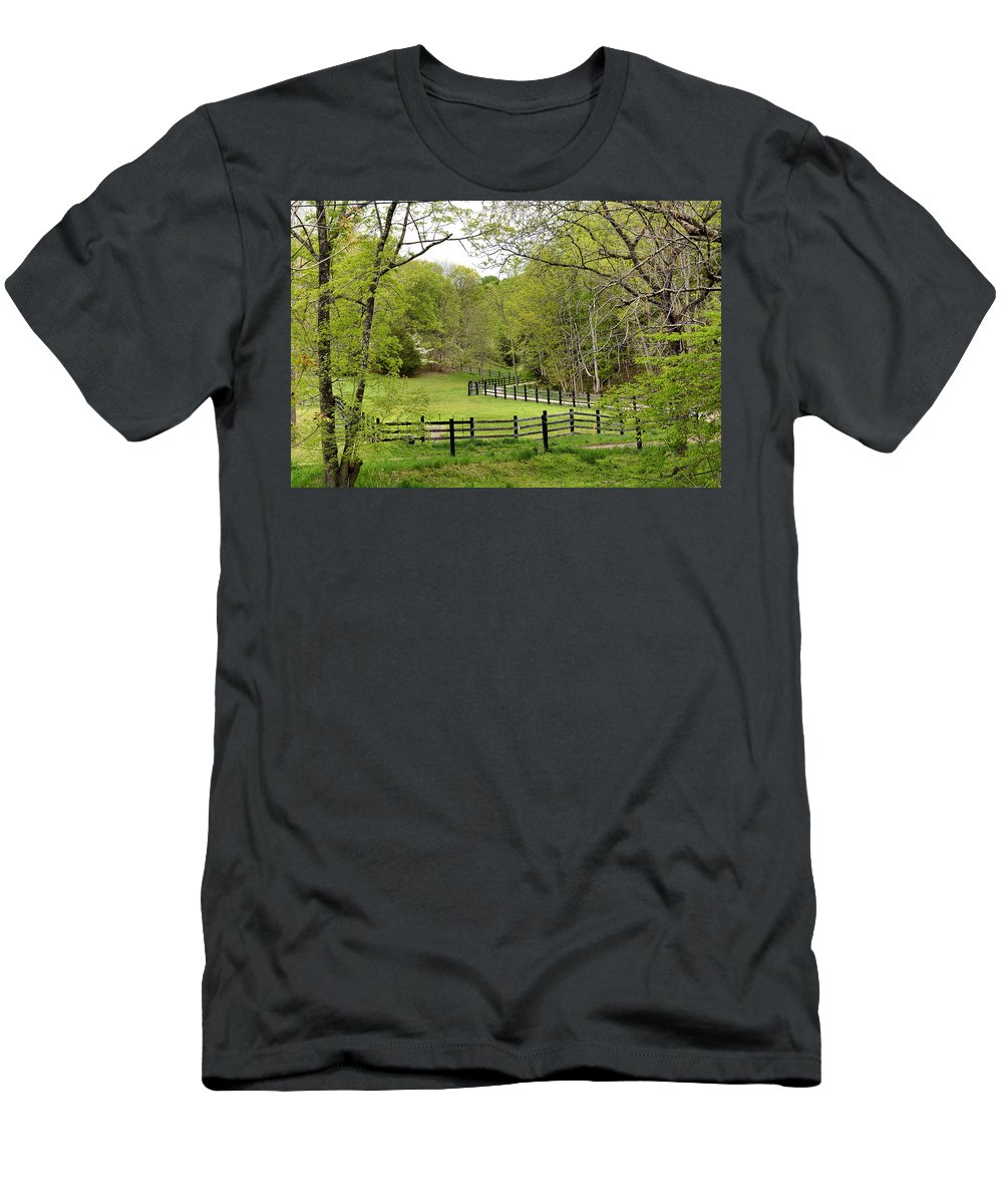 Todd Hostetter Men's T-Shirt (Athletic Fit) featuring the photograph Virginia Spring by Todd Hostetter