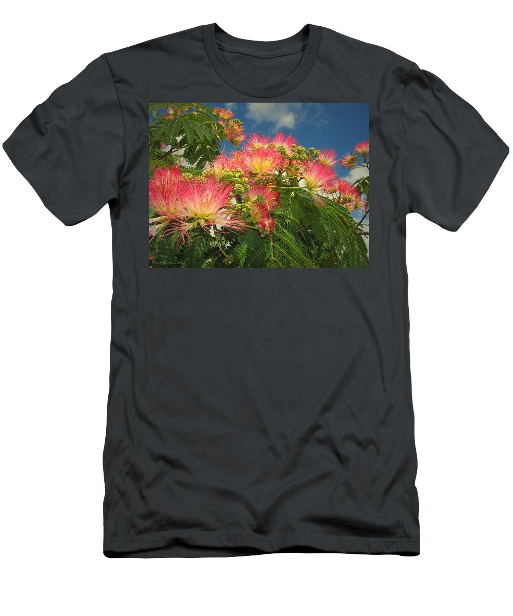 Mimosa Men's T-Shirt (Athletic Fit) featuring the photograph Voluntary Mimosa Tree by Joyce Dickens