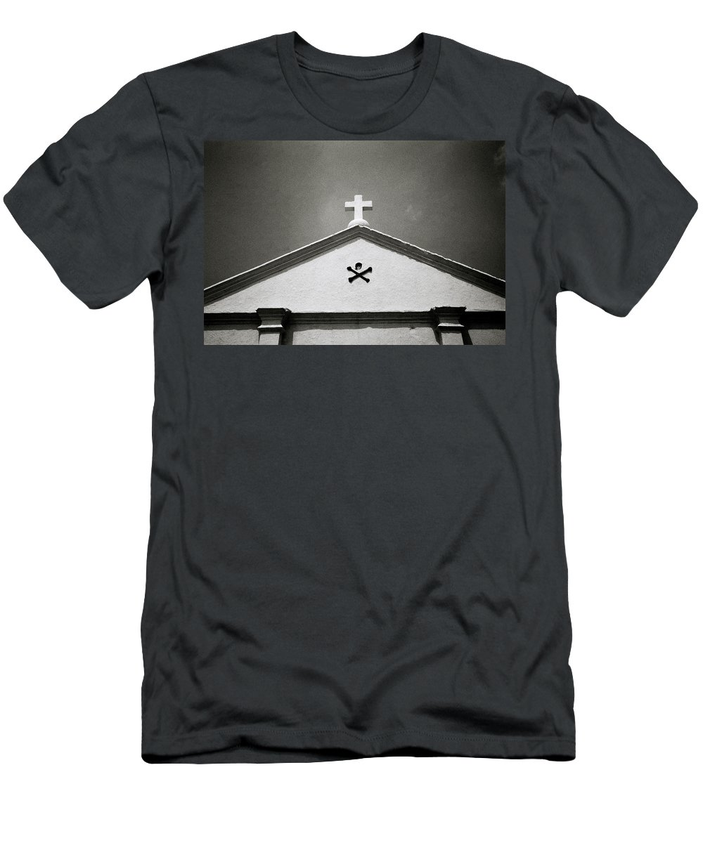 Christianity Men's T-Shirt (Athletic Fit) featuring the photograph Skull And Crossbones by Shaun Higson