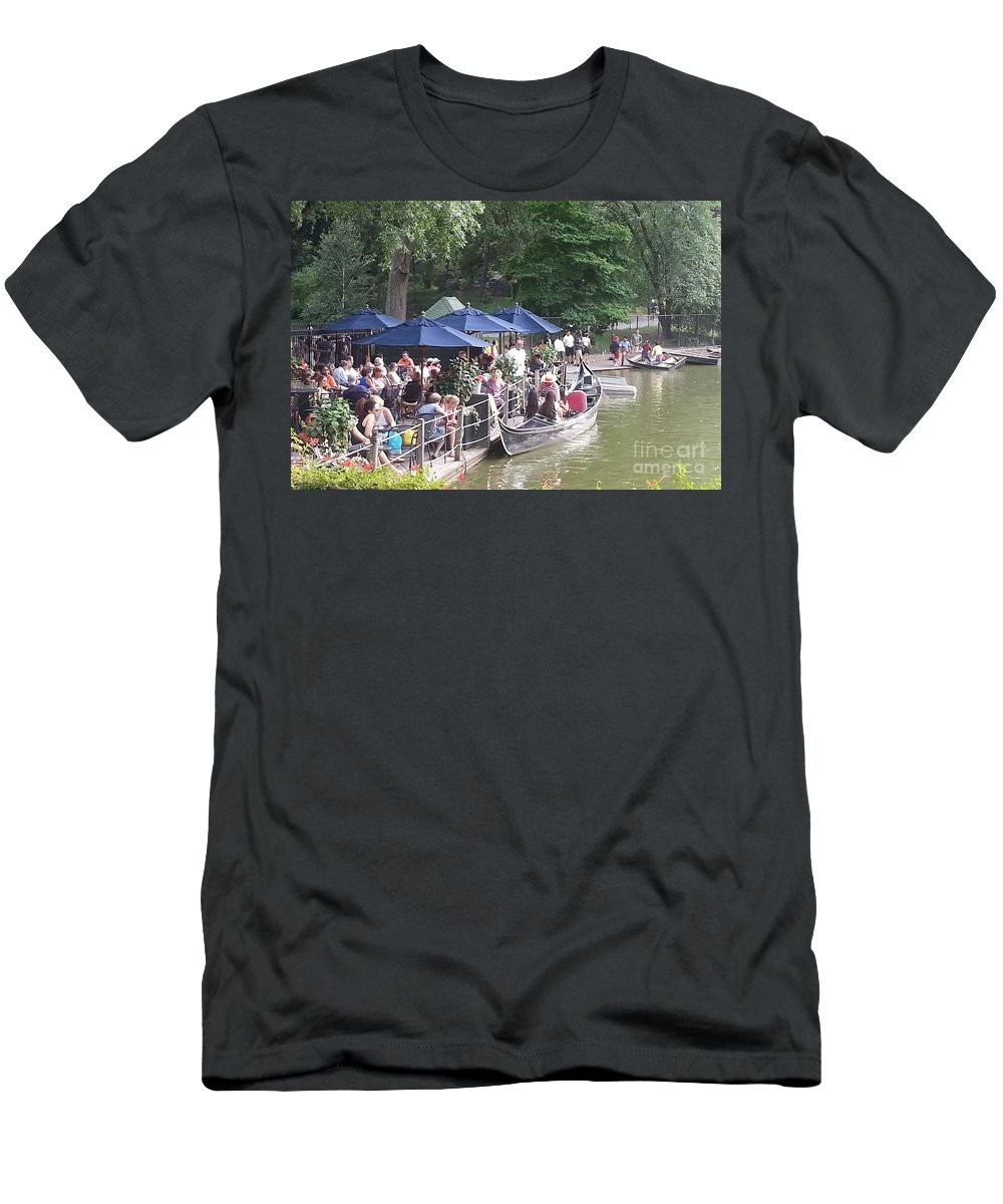 Central Park Men's T-Shirt (Athletic Fit) featuring the photograph Waiting For A Ride by Christy Gendalia