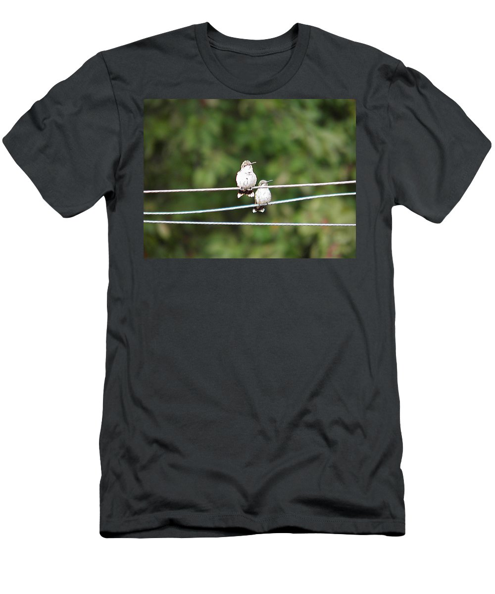 Humming Men's T-Shirt (Athletic Fit) featuring the photograph Waiting Our Turn 2 by Nick Kirby