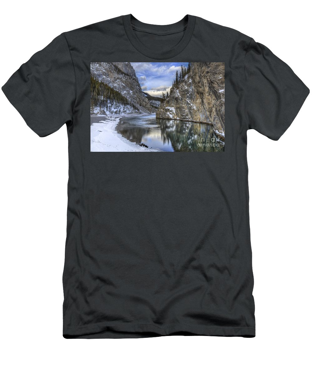 Banff Men's T-Shirt (Athletic Fit) featuring the photograph Walking Through Wonderland by Evelina Kremsdorf