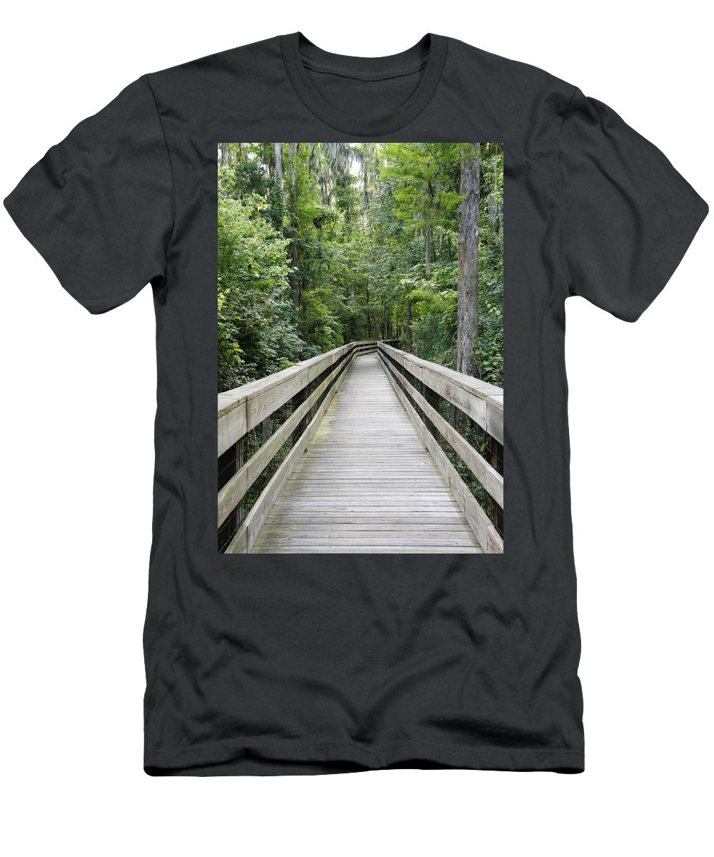 Florida Woods Men's T-Shirt (Athletic Fit) featuring the photograph Wander by Laurie Perry