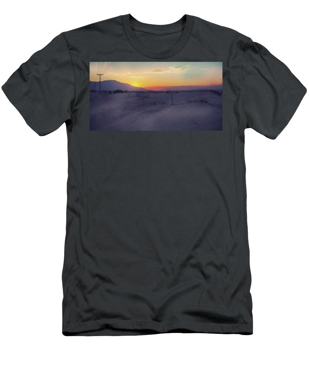 Palm Desert Men's T-Shirt (Athletic Fit) featuring the photograph Wanderers by Laurie Search