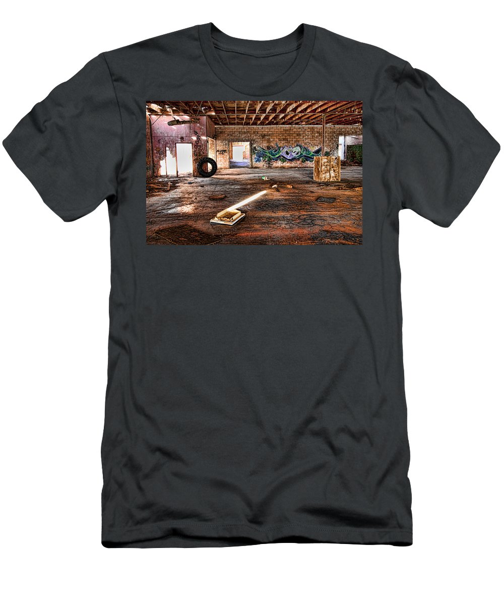 Warehouse Men's T-Shirt (Athletic Fit) featuring the photograph Warehouse by Hugh Smith