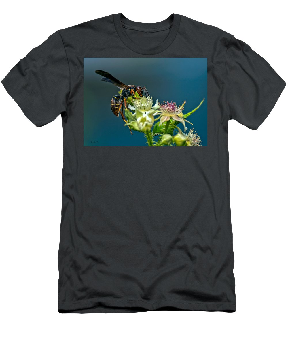 Wasps Men's T-Shirt (Athletic Fit) featuring the photograph Wasp by Bob Orsillo