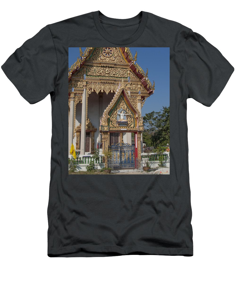 Bangkok Men's T-Shirt (Athletic Fit) featuring the photograph Wat Thewasunthon Ubosot Gate Dthb1420 by Gerry Gantt