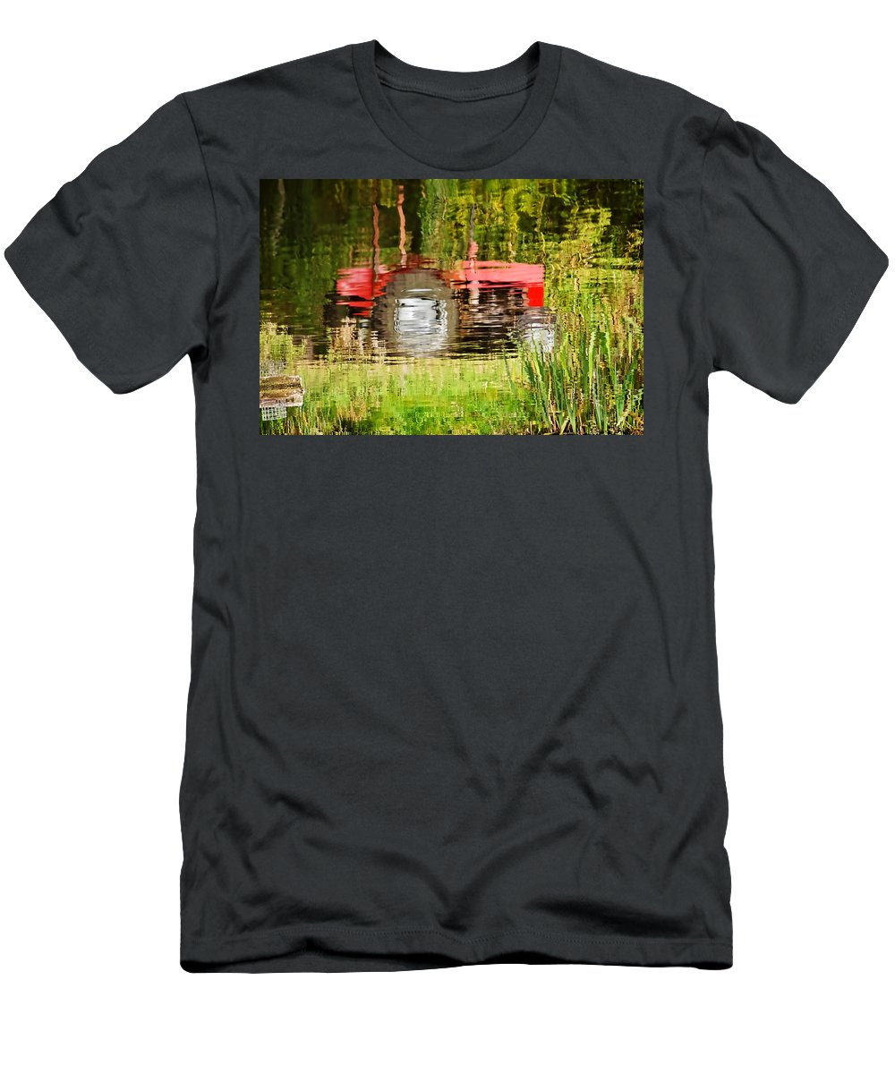 Tractor Men's T-Shirt (Athletic Fit) featuring the photograph Water Gardening by Susie Peek