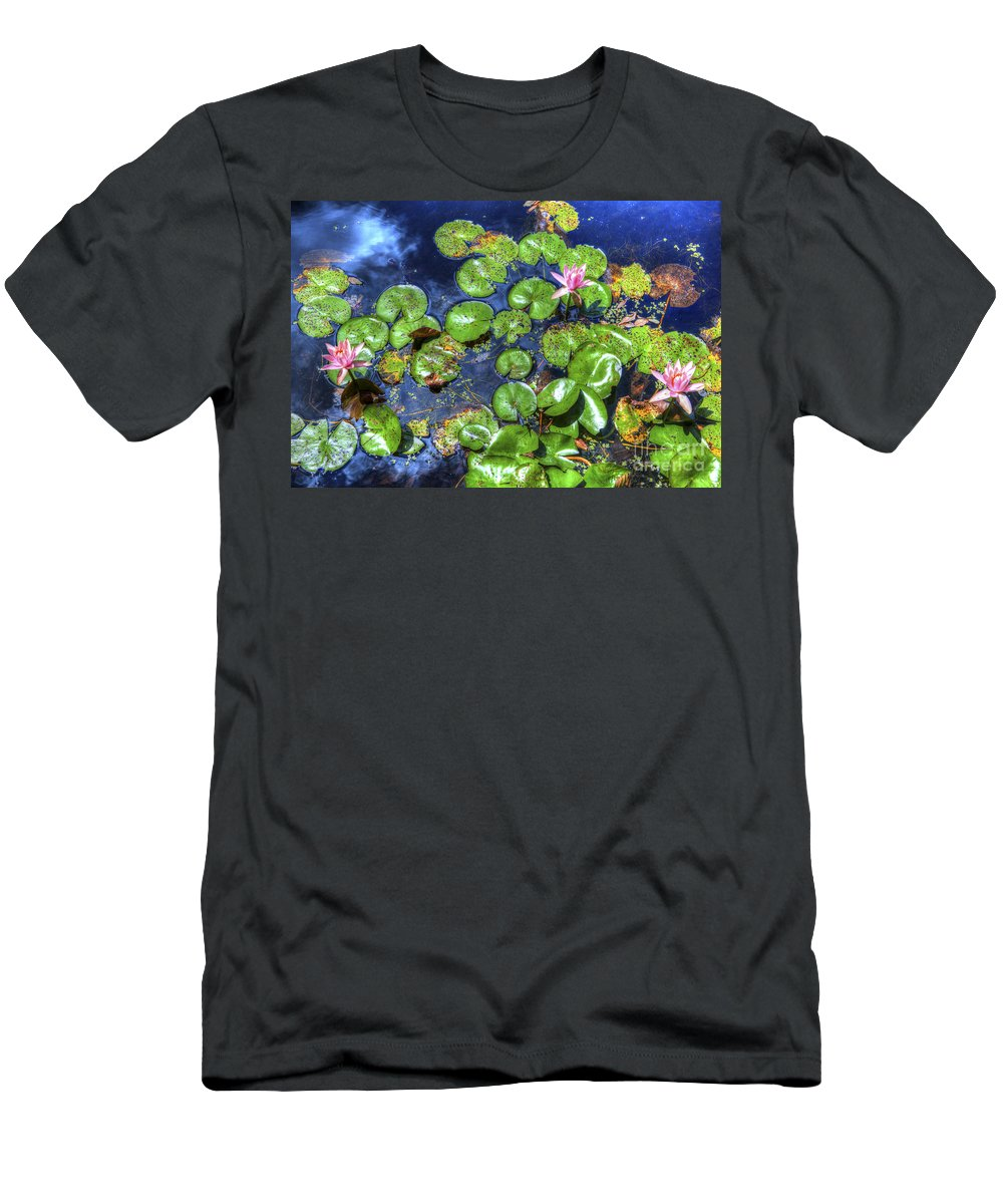 Water Lily Men's T-Shirt (Athletic Fit) featuring the photograph Water Lily by Dale Powell