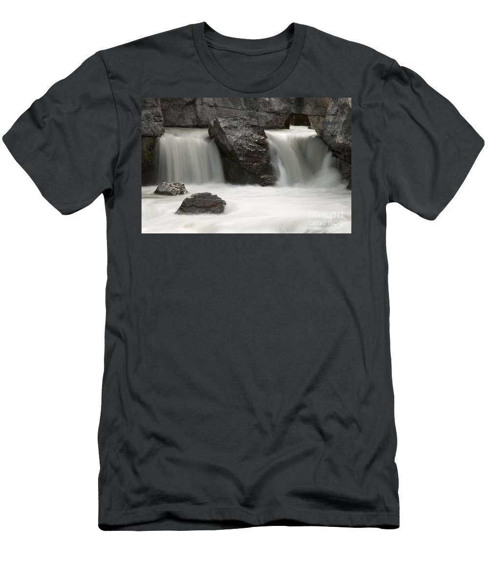 Waterfalls Men's T-Shirt (Athletic Fit) featuring the photograph Waterfalls On Nigel Creek by Vivian Christopher