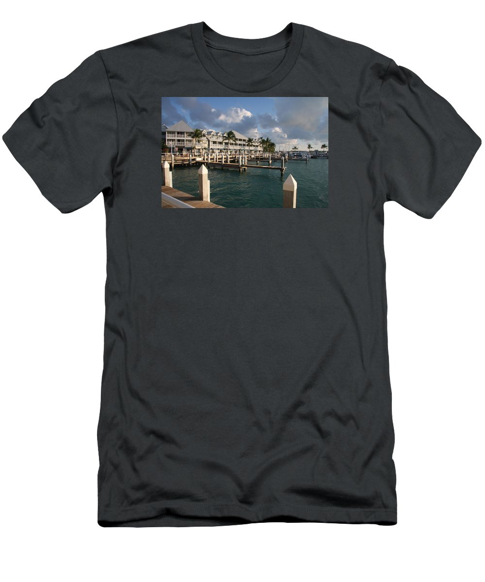 Bayfront Men's T-Shirt (Athletic Fit) featuring the photograph Waterfront Key West by Christiane Schulze Art And Photography