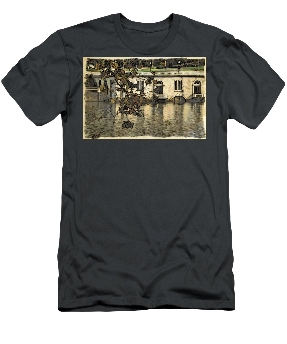 Water Men's T-Shirt (Athletic Fit) featuring the photograph Waterworks by Alice Gipson