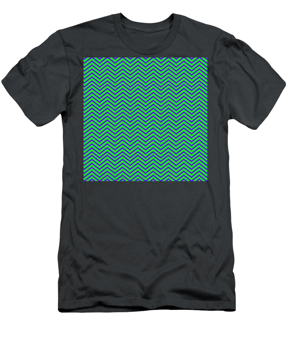 Green Men's T-Shirt (Athletic Fit) featuring the digital art Wavy by Cassie Peters