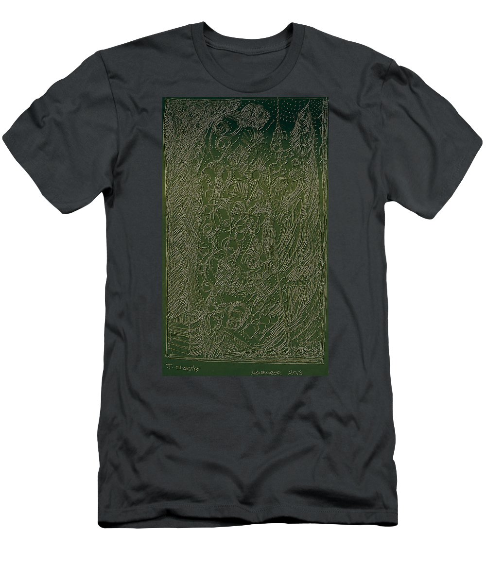 Greeting Cards Men's T-Shirt (Athletic Fit) featuring the digital art Weaving The World by Judith Chantler