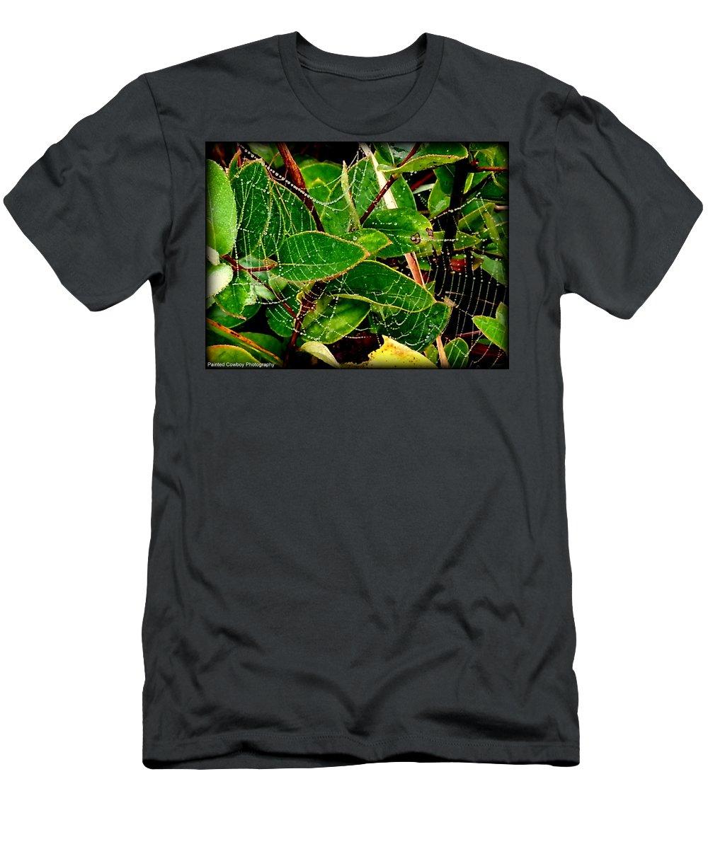 Web Men's T-Shirt (Athletic Fit) featuring the photograph Web4 by Daniel Jakus