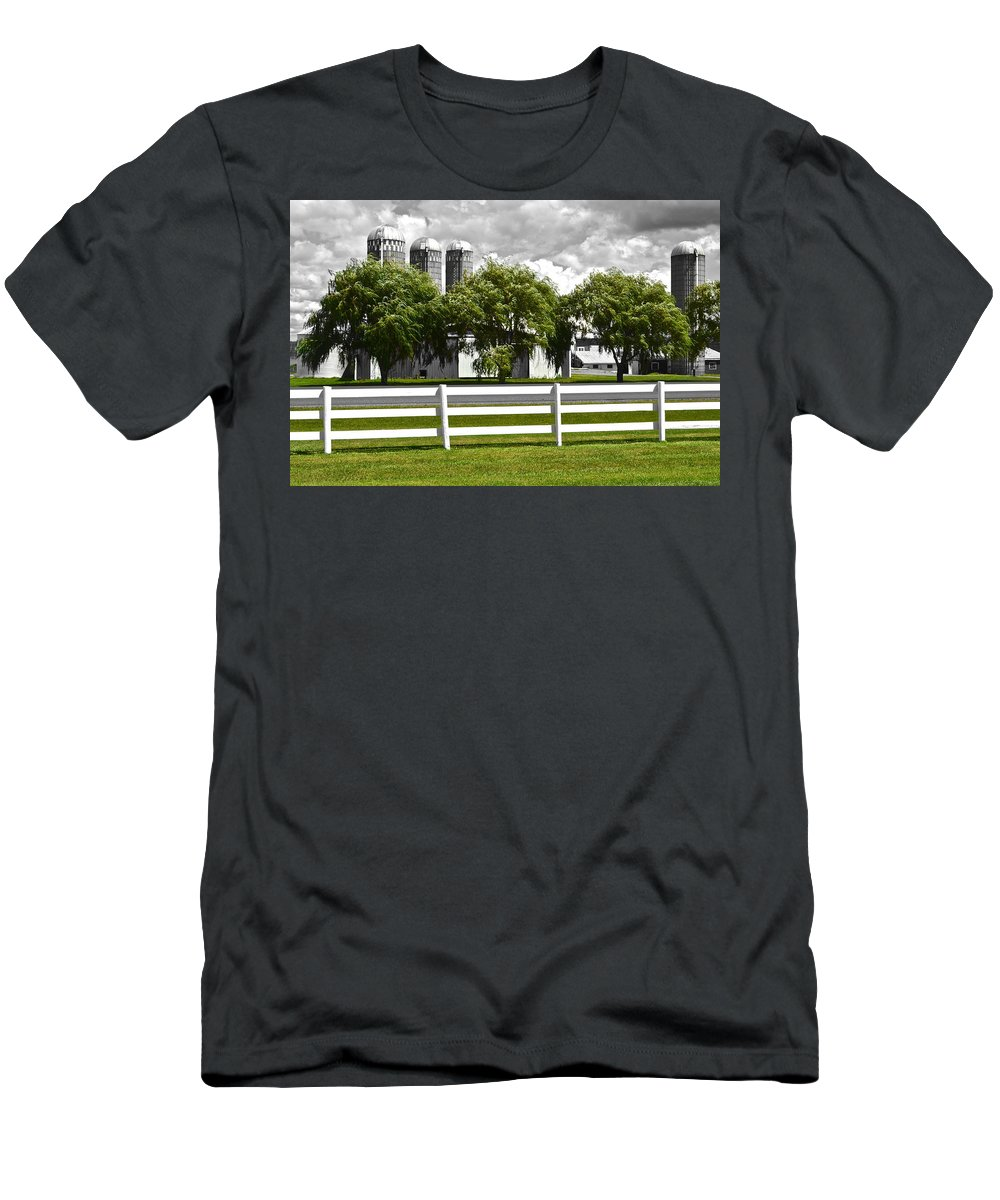 Weeping Men's T-Shirt (Athletic Fit) featuring the photograph Weeping Willow Green by Frozen in Time Fine Art Photography