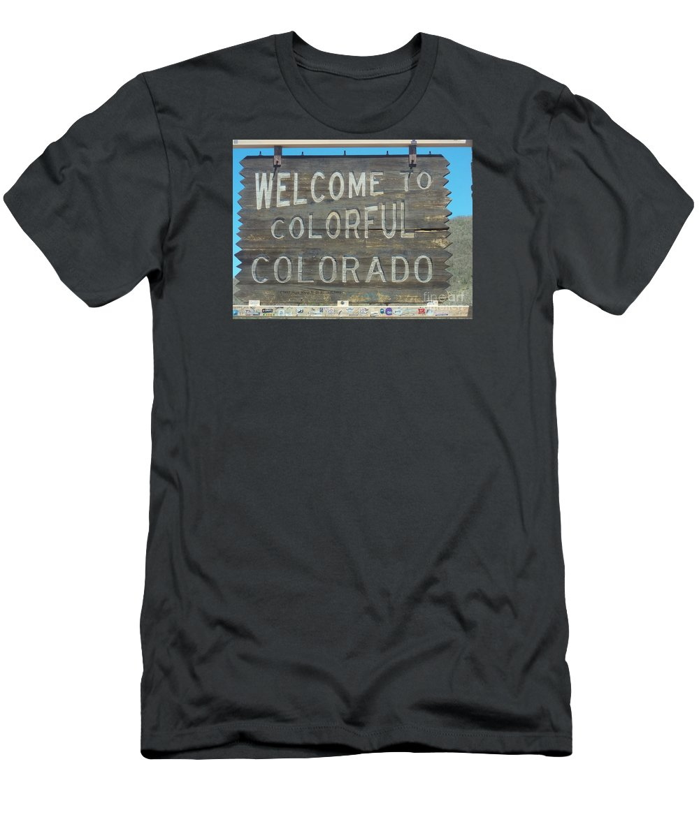 Men's T-Shirt (Athletic Fit) featuring the photograph Welcome To Colorful Colorado by Jessica Flieg