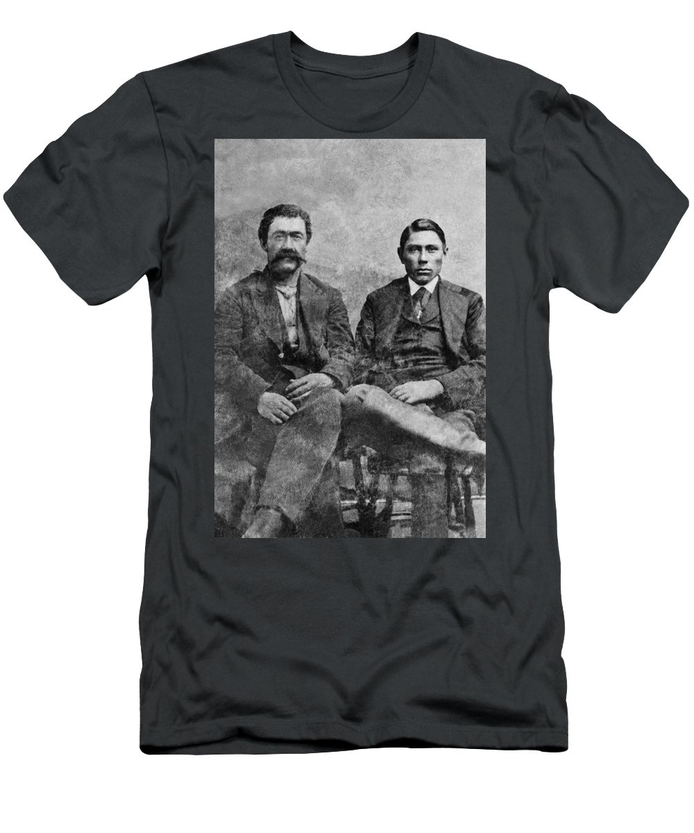 1890 Men's T-Shirt (Athletic Fit) featuring the photograph Western Frontiersmen by Underwood Archives