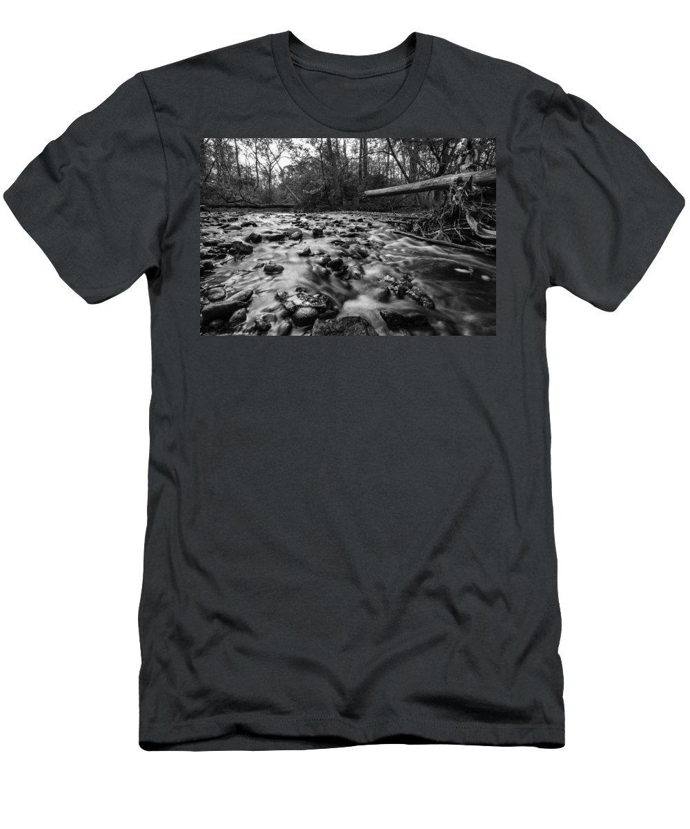 Www.cjschmit.com Men's T-Shirt (Athletic Fit) featuring the photograph Wet Rocks by CJ Schmit