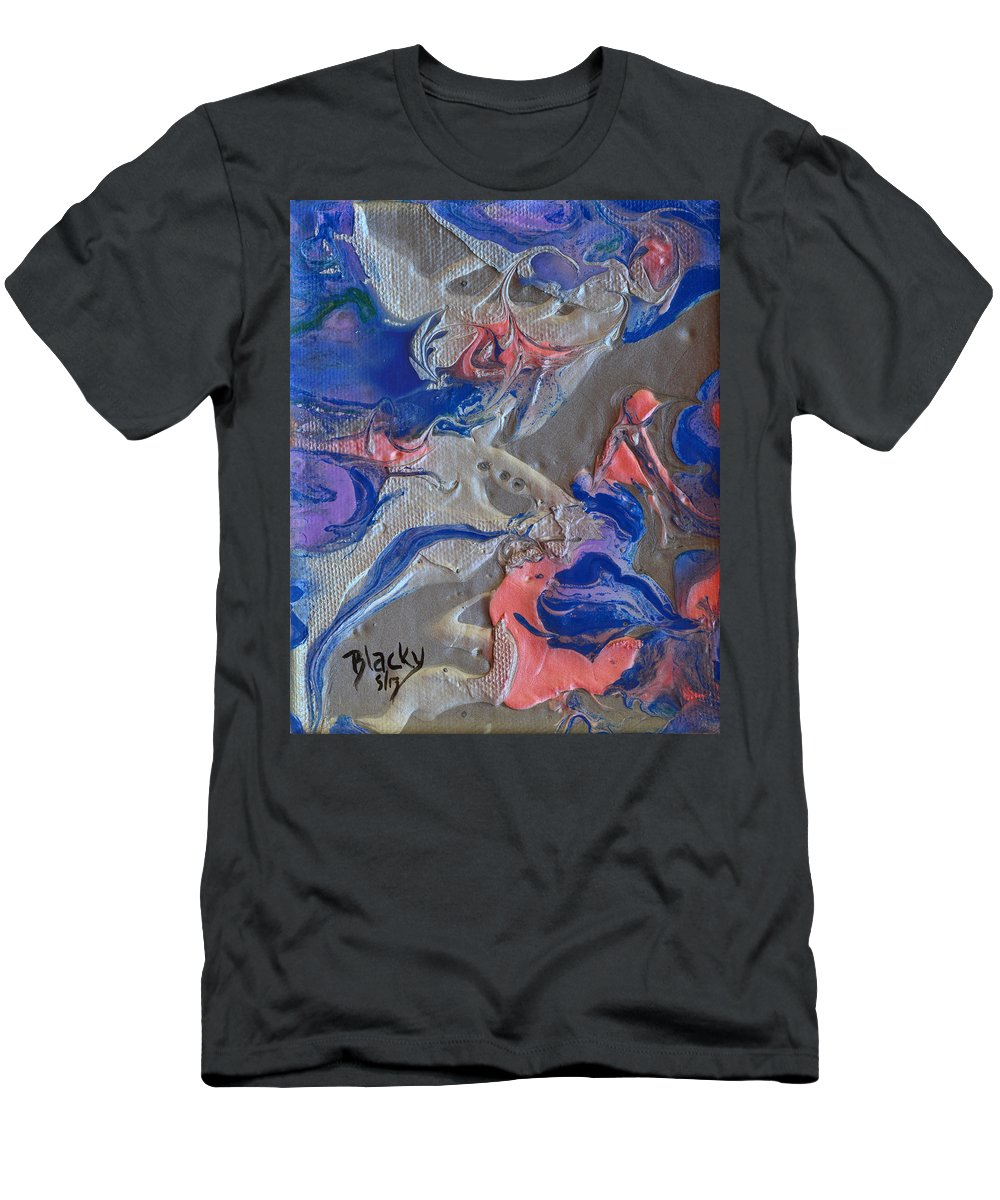 Modern Men's T-Shirt (Athletic Fit) featuring the painting When Angels Fail by Donna Blackhall