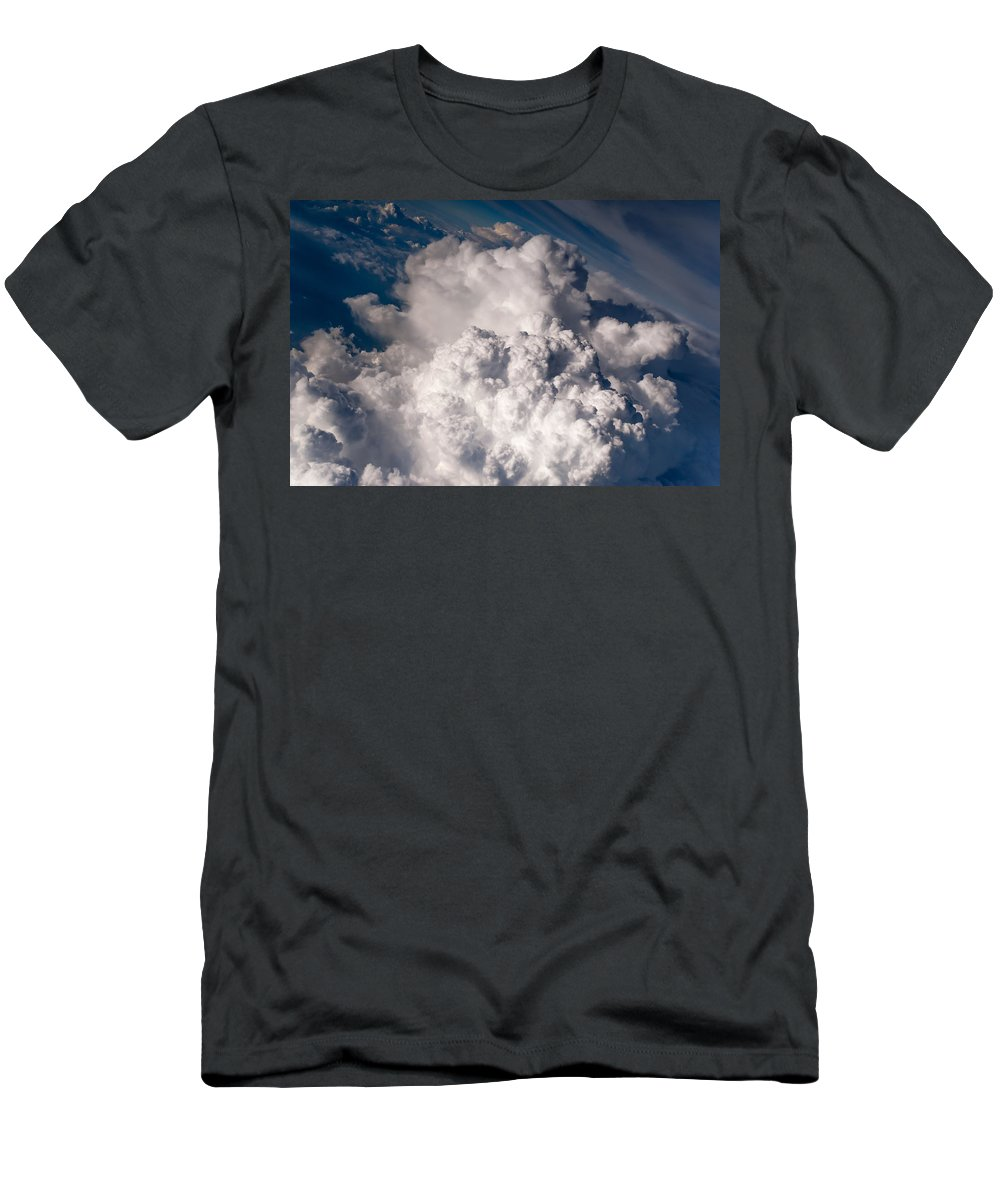 Aerial.clouds Men's T-Shirt (Athletic Fit) featuring the photograph When The Dreams Coming True 1 by Jenny Rainbow