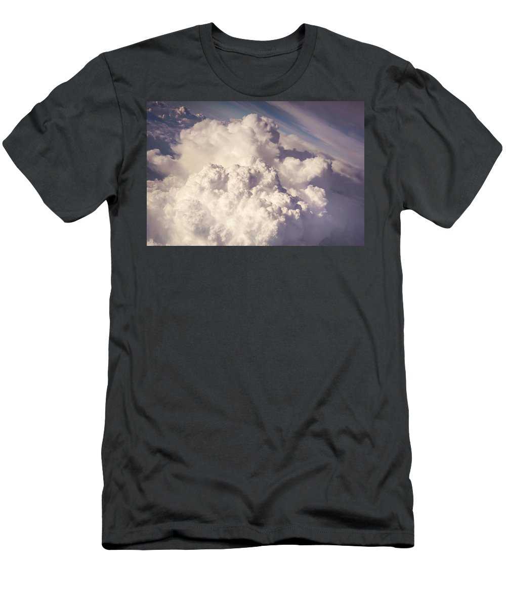 Aerial.clouds Men's T-Shirt (Athletic Fit) featuring the photograph When The Dreams Coming True. Nostalgic by Jenny Rainbow