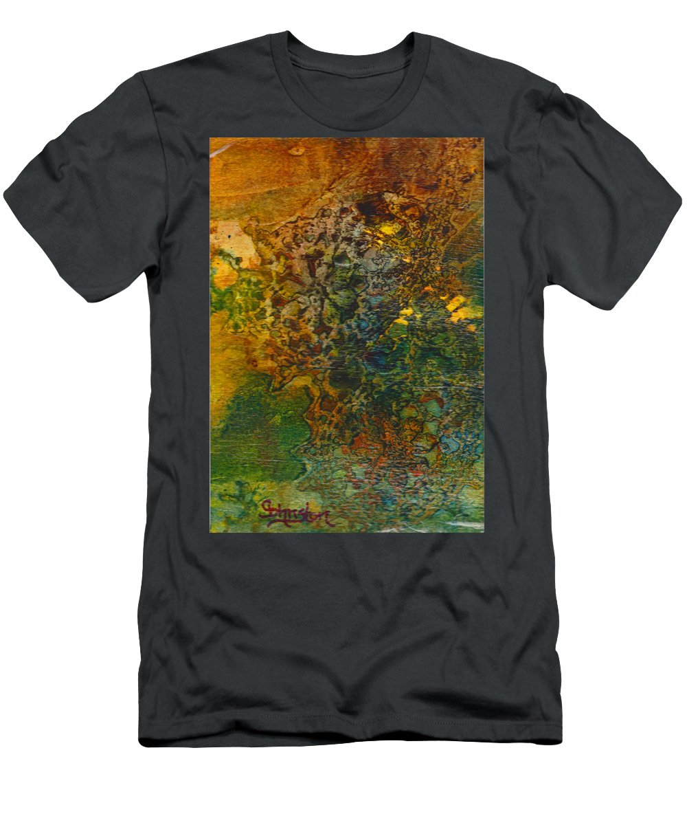 Life Men's T-Shirt (Athletic Fit) featuring the mixed media When You Least Expect It by Cindy Johnston