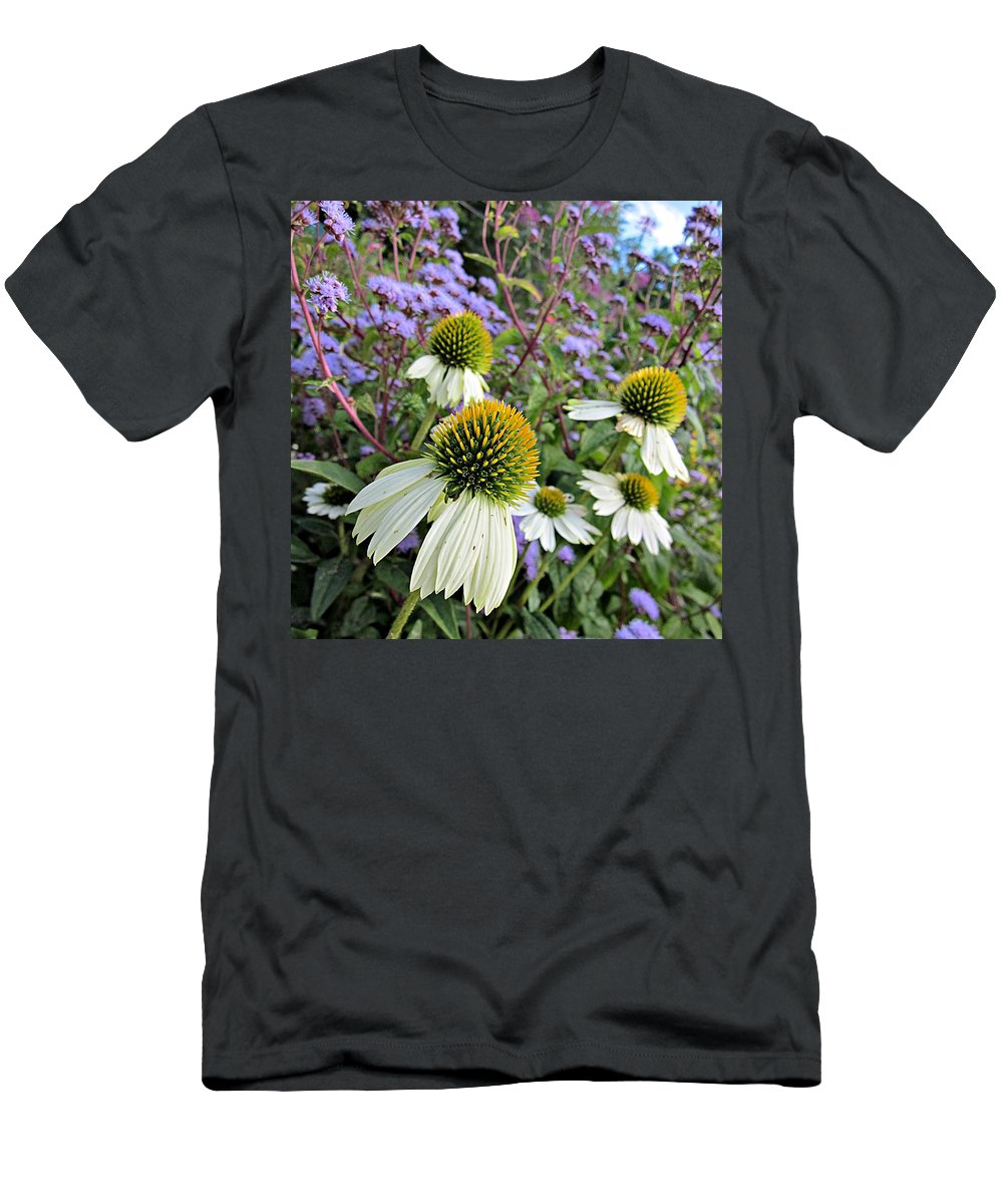 White Coneflowers Men's T-Shirt (Athletic Fit) featuring the photograph White Coneflowers by MTBobbins Photography