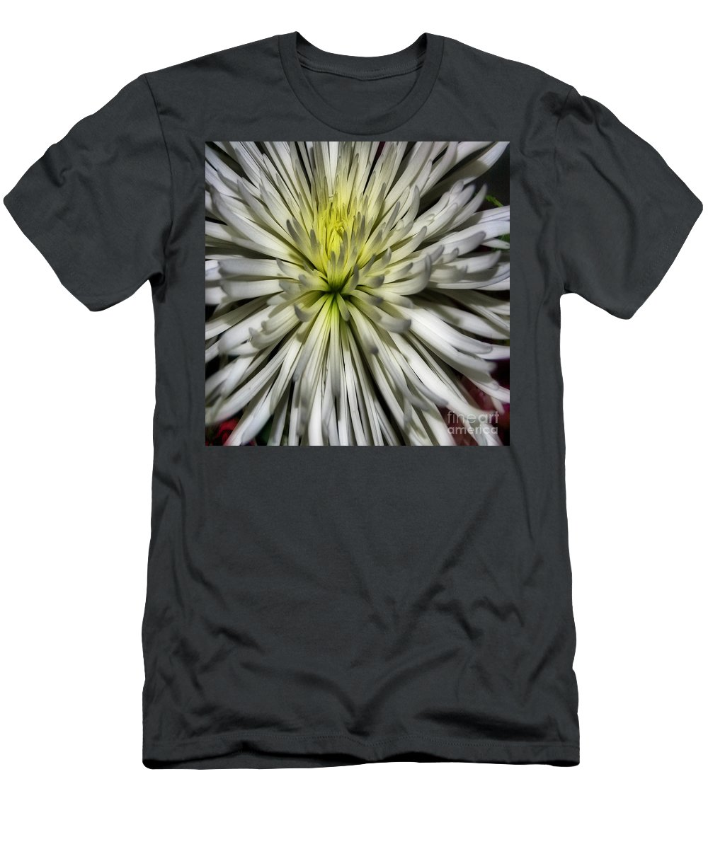 Pictures Of Flowers Men's T-Shirt (Athletic Fit) featuring the photograph White Duvet Cover by Skip Willits