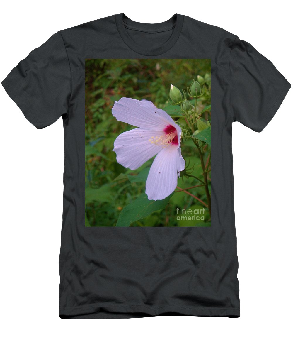 Flora Men's T-Shirt (Athletic Fit) featuring the photograph White Flower by Eric Schiabor