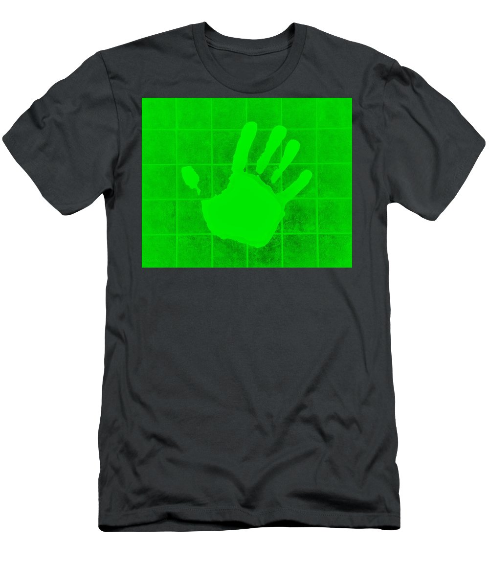 Hand Men's T-Shirt (Athletic Fit) featuring the photograph White Hand Green by Rob Hans