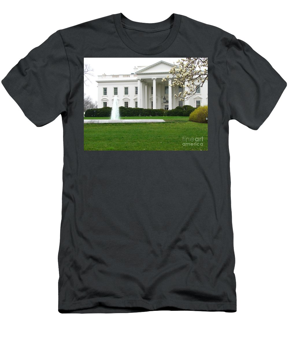 White House Men's T-Shirt (Athletic Fit) featuring the photograph White House by DejaVu Designs