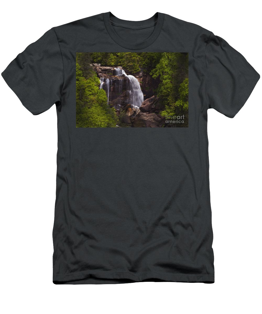 Whitewater Falls Men's T-Shirt (Athletic Fit) featuring the photograph Whitewater Falls Nc by Paul W Faust - Impressions of Light
