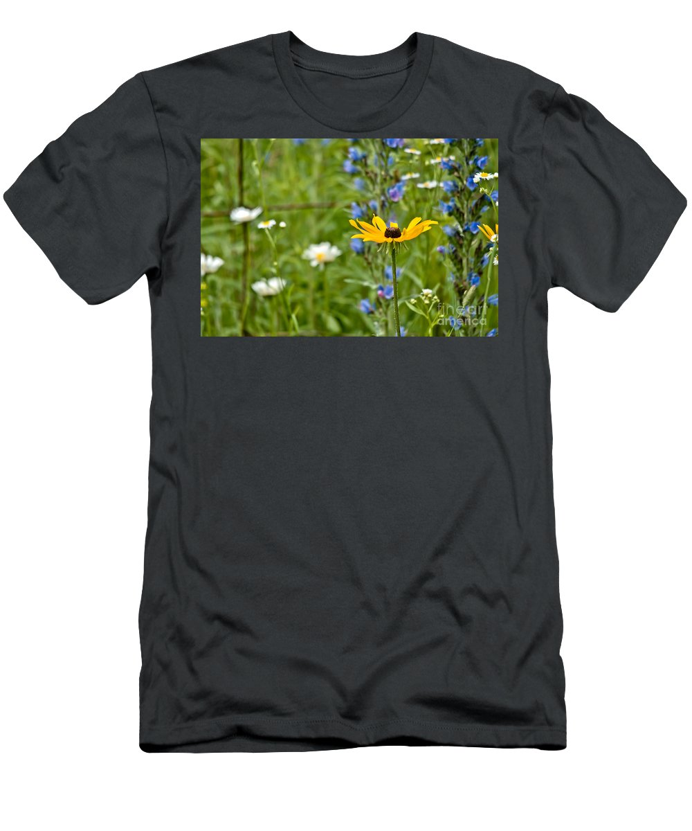 Wild Flowers Men's T-Shirt (Athletic Fit) featuring the photograph Wild Flower Delight by Cheryl Baxter