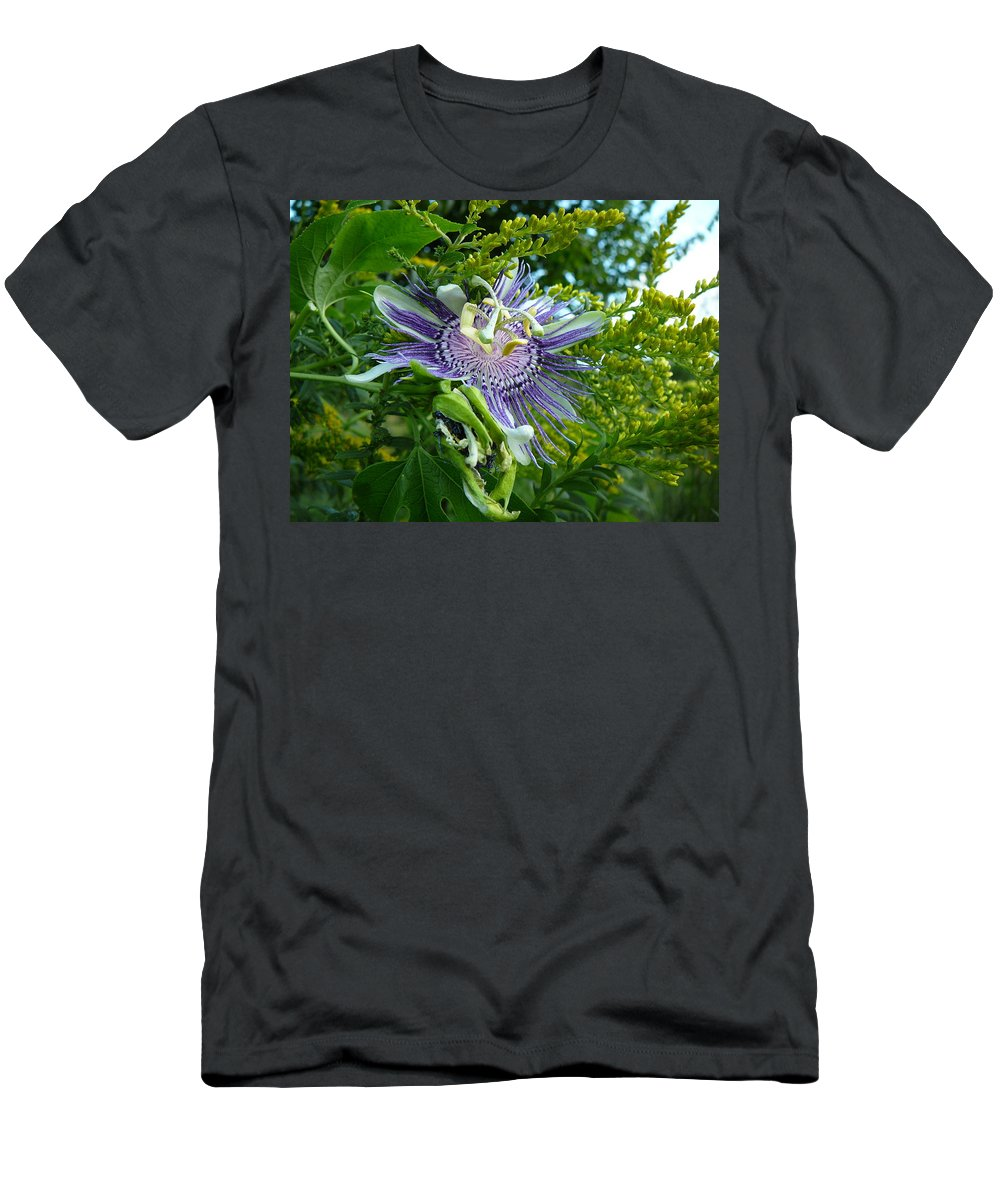 Great Men's T-Shirt (Athletic Fit) featuring the photograph Wild Flower by Two Bridges North